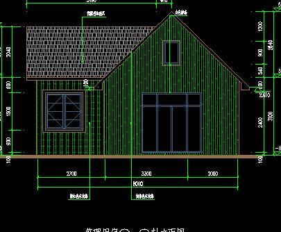 某公园管理房建筑施工图纸(轻钢结构)