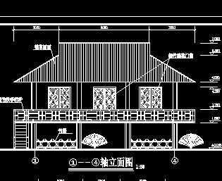某动物园竹楼建筑施工图纸