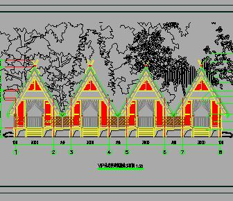 游客休息亭园建施工图纸