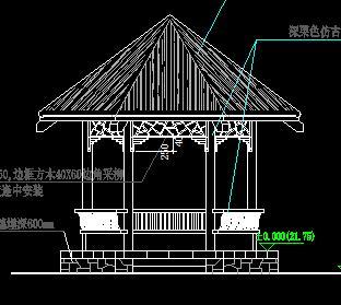 六角草亭园建设计图纸