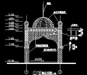 阿拉伯式方亭园建设计图纸