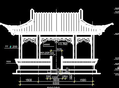 园林水榭建筑施工图纸