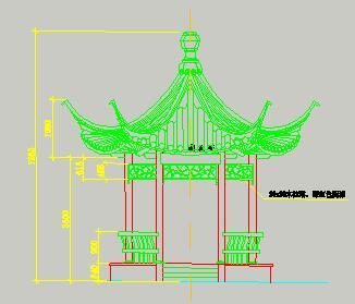 六角亭园建施工图纸