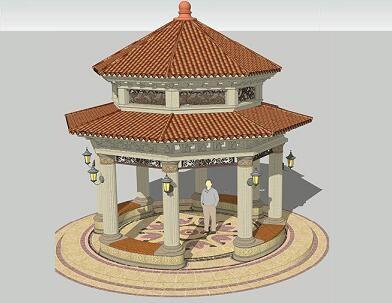 双层八角景观亭园建施工图纸(全套)