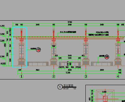 某高端单边廊架园建施工图纸