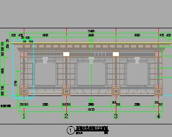 欧式高端双边廊架园建施工图纸