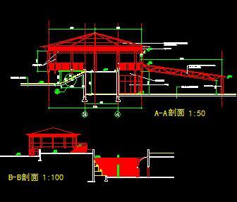 二层茶室园林建筑设计图纸