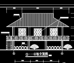 某竹楼园林建筑施工图纸