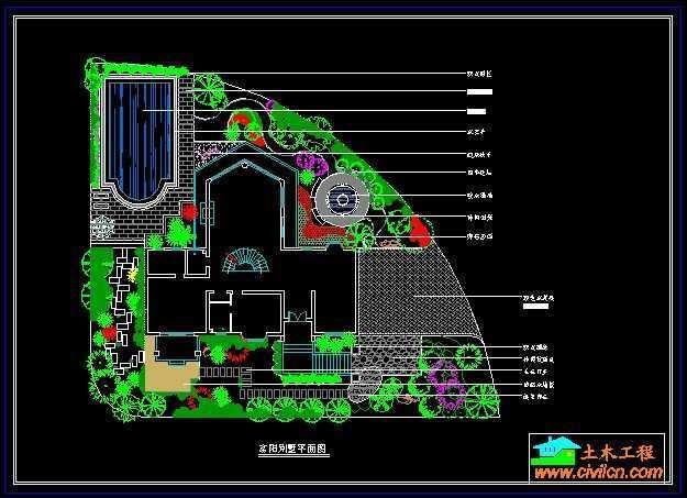 富阳别墅景观设计平面图