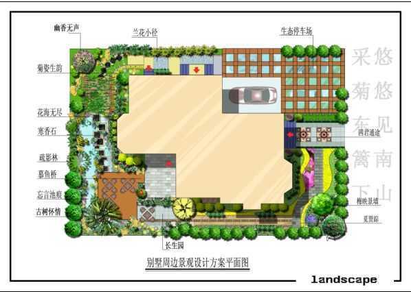 别墅周边景观设计平面图