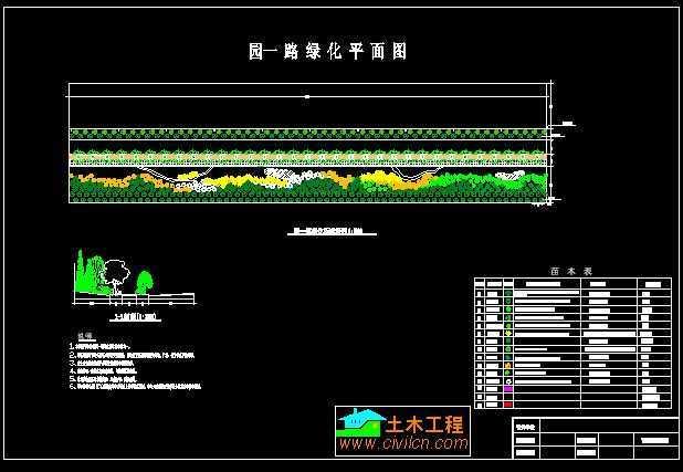 道路绿化设计图