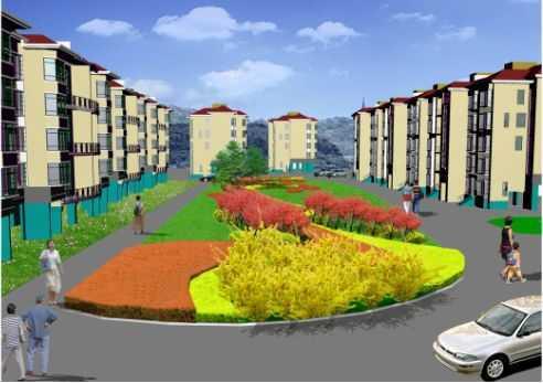 住宅小区花园种植设计图纸免费下载 园林绿化及施工