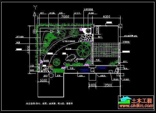 别墅小庭院景观设计图