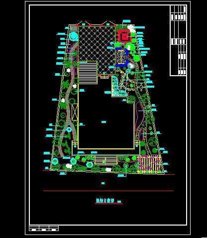 私家别墅绿化设计平面图