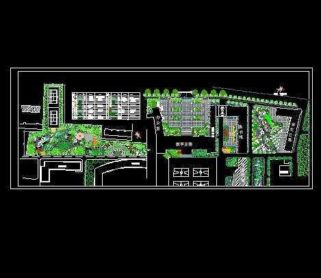 校園廣場綠化設計平面圖