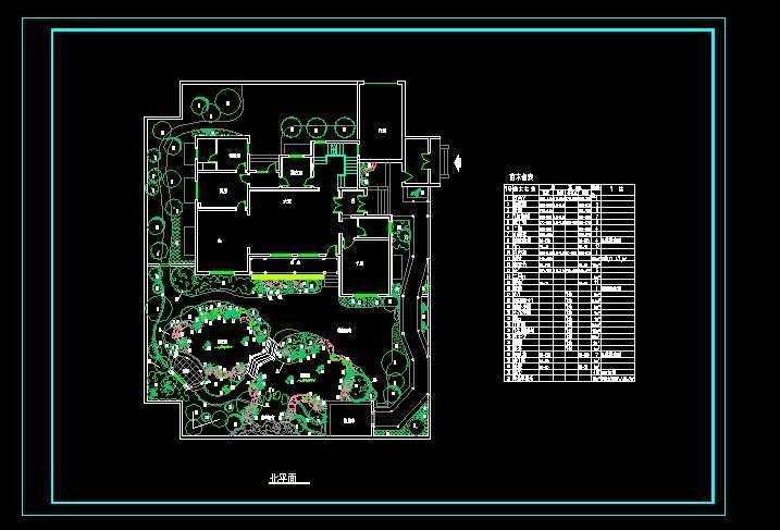 别墅庭院绿化平面图