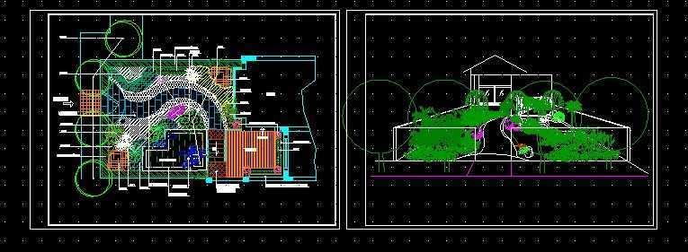 别墅花园绿化布置平面图免费下载 - 园林绿化及施工