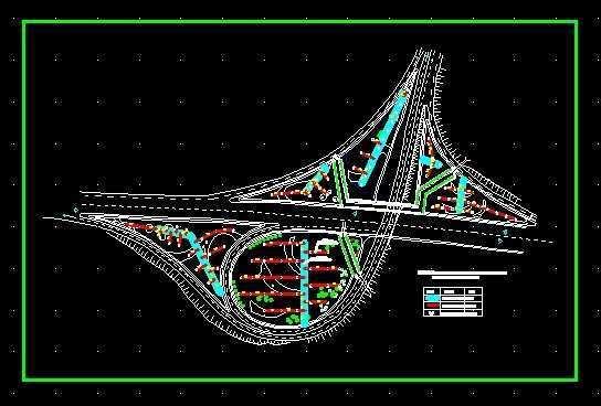 高速公路互通设计图纸
