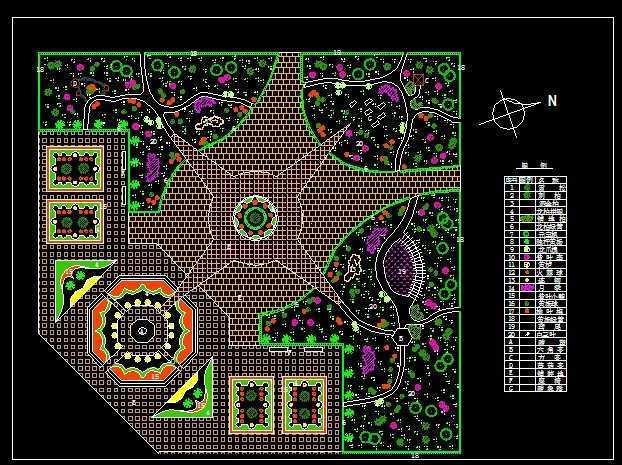 广场绿化设计图
