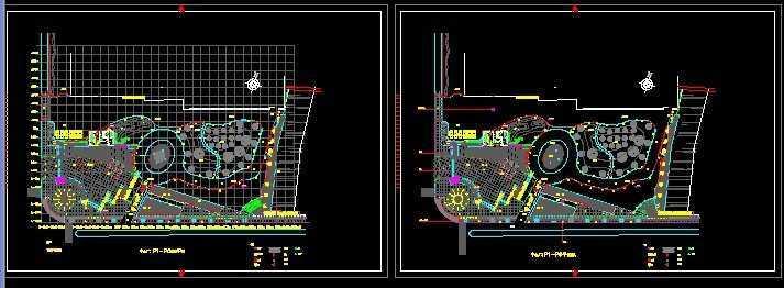 中心廣場景觀設計平面圖