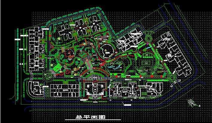 经典住宅区景观规划总平面图免费下载 园林绿化及施工