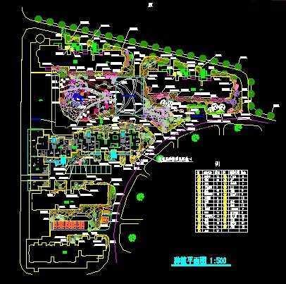 小区景观设计绿化平面图