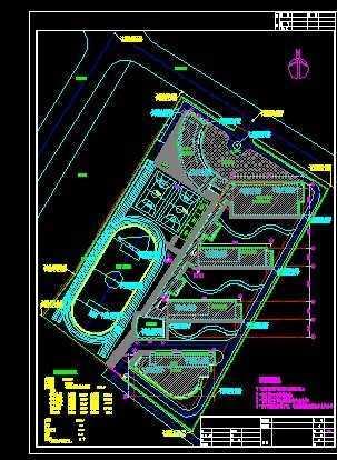 珠海某小学的绿化设计平面图