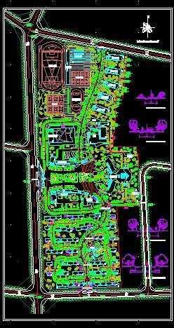 某中学校园规划设计总平面图
