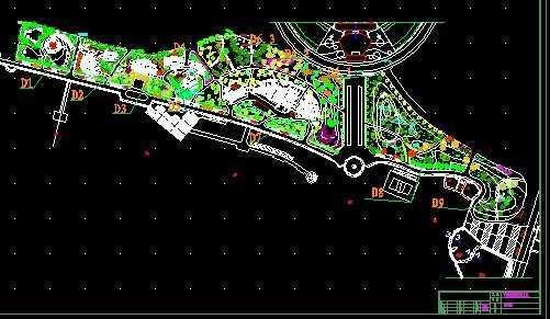 海洋公园绿化平面图