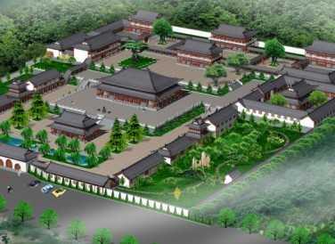 寺庙规划设计图免费下载 - 园林景观效果图 - 土木