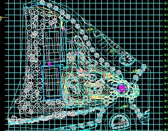 某住宅区别墅图纸图纸入口工程施工v别墅山体免康佳29808sp景观图片
