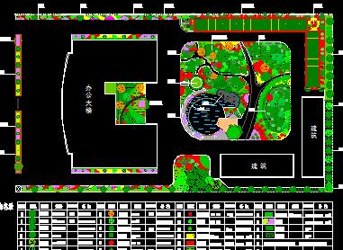 行政办公楼景观规划设计图纸