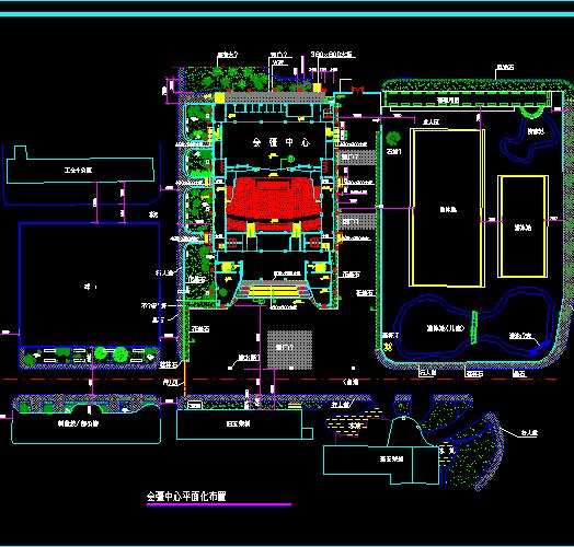 会议中心前广场绿化施工图