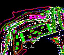 高尔夫球场景观绿化优乐娱乐图纸