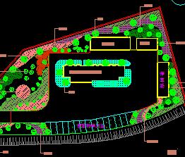 匝道服务区绿化设计图纸
