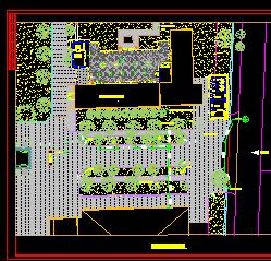 入口广场绿化设计图纸