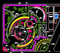 小游园环境绿化设计图纸
