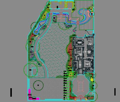 别墅绿化施工图