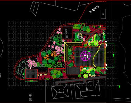 生态广场绿化施工图纸