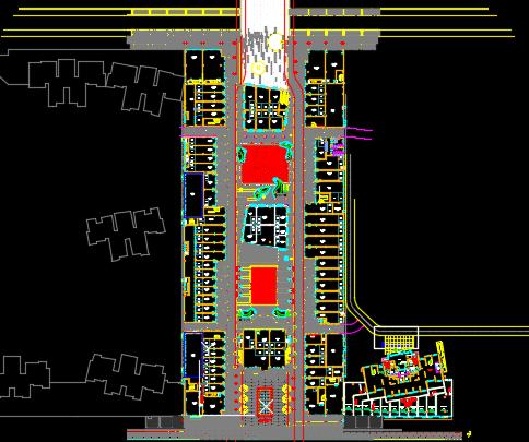 商业街展示区景观施工图(含土建、水电)