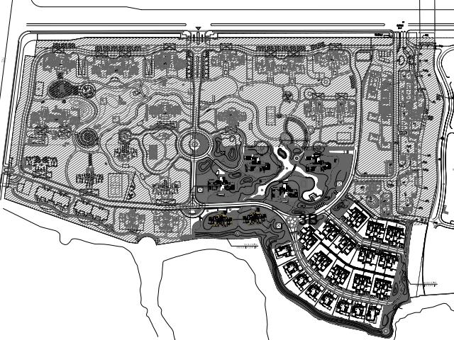某住宅区绿化景观施工图