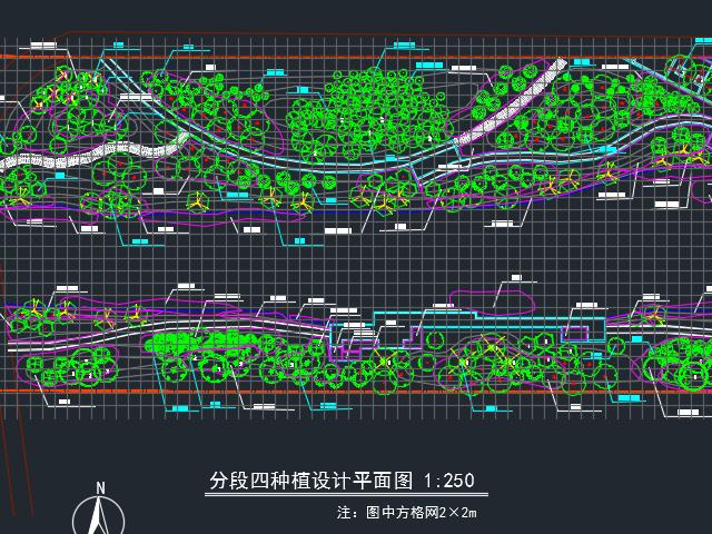 河道疏浚景观绿化工程施工图