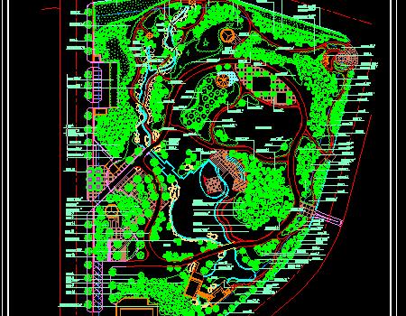 某地公园绿化设计施工图