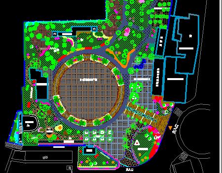 商区附近小公园景观绿化设计施工图