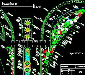 10米道路中心绿化带设计图纸