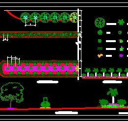 道路分车带绿化设计图纸