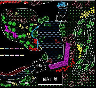 公园道路绿化工程设计图