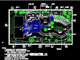 某私人别墅屋顶花园景观施工图纸