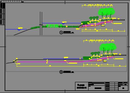 河岸景观工程施工图纸