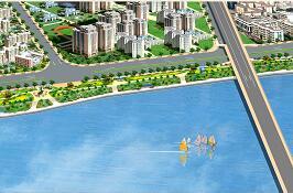 某城市沿江绿地公园全套施工图纸